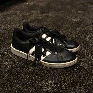 Black Adidas Cloudfoam Tennis Shoes